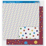 Papel Scrapbook Litoarte 30,5x30,5 SD-260 Poá Colorido