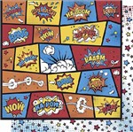 Papel Scrapbook Litoarte 30,5x30,5 SD-616 Splash Pop Art Estrelas