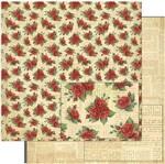 Papel Scrapbook Litoarte 30,5x30,5 SD-775 Padrão Rosas Vermelhas