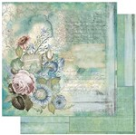Papel Scrapbook Litoarte 30,5x30,5 SD-798 Flores Tiffany Vintage