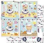 Papel Scrapbook Litoarte 30,5x30,5 SD-826 Ursa Marinheira Bebê