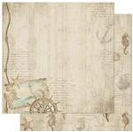 Papel Scrapbook Litoarte 30,5x30,5 SD-888 Naval Conchinhas