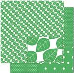 Papel Scrapbook Litoarte 30,5x30,5 SD-933 Estampa de Folhas