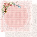 Papel Scrapbook Litoarte 30,5x30,5 SD-962 Flores e Borboletas Fundo Rosa