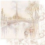 Papel Scrapbook Litoarte 30,5x30,5 SD-960 Paisagem de Paris