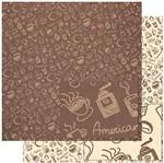 Papel Scrapbook Litoarte 30,5x30,5 SD-927 Estampa de Elementos de Café