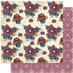 Papel Scrapbook Litoarte 30,5x30,5 SD-982 Padrão Flores Grandes Coloridas