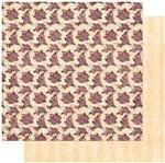 Papel Scrapbook Litoarte 30,5x30,5 SD-984 Padrão Rosas e Cartas