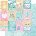 Papel Scrapbook Litoarte 30,5x30,5 SD-991 Cultive Amor, Verão e Flechas