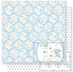 Papel Scrapbook Litoarte 30,5x30,5 SD1-033 Flores Brancas