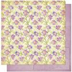 Papel Scrapbook Litoarte 30,5x30,5 SD1-065 Padrão de Flores Lilás