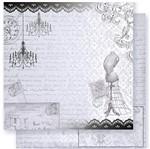 Papel Scrapbook Litoarte 30,5x30,5 SD1-027 Vitoriana com Corpete