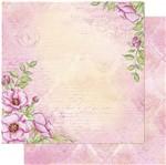 Papel Scrapbook Litoarte 30,5x30,5 SD1-082 Padrão Rosa Silvestre