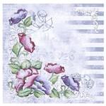 Papel Scrapbook Litoarte 30,5x30,5 SS1-006 Flor Provençal