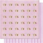 Papel Scrapbook Litoarte Sd-603 Dupla Face 30,5x30,5cm Coroa Rosas