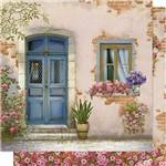 Papel Scrapbook Litoarte Sd-608 Dupla Face 30,5x30,5cm Porta e Janela com Flores