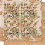 Papel Scrapbook Litoarte Sd-609 Dupla Face 30,5x30,5cm Vasos de Flores