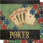 Papel Scrapbook Litoarte Sd-664 Dupla Face 30,5x30,5cm Poker
