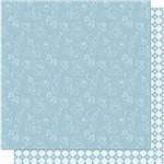 Papel Scrapbook Litoarte Sd-678 Dupla Face 30,5x30,5cm Losango Azul