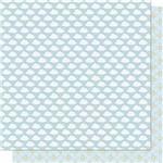 Papel Scrapbook Litoarte Sd-679 Dupla Face 30,5x30,5cm Nuvens e Estrelas