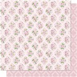 Papel Scrapbook Litoarte Sd-688 Dupla Face 30,5x30,5cm Flores e Arabesco