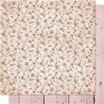Papel Scrapbook Litoarte Sd-691 Dupla Face 30,5x30,5cm Rosas e Madeira Rosa