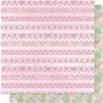 Papel Scrapbook Litoarte Sd-708 Dupla Face 30,5x30,5cm Padrão Tribal e Folhas Tropicais