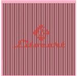 Papel Scrapbook Litocart 30,5x30,5 LSC-089 Listras Marrom e Rosa