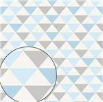 Papel Scrapbook Litocart 30,5x30,5 LSC-351 Triângulos Azul e Cinza