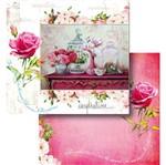 Papel Scrapbook Litocart 30,5x30,5 LSCD-432 Arranjos de Rosas