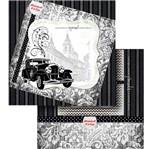 Papel Scrapbook Litocart 30,5x30,5 LSCD-443 Carro Antigo Preto