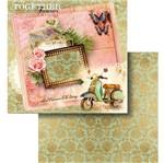 Papel Scrapbook Litocart 30,5x30,5 LSCD-442 Cartão Postal e Lambreta