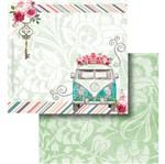 Papel Scrapbook Litocart 30,5x30,5 LSCD-438 Kombi e Flores