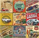 Papel Scrapbook Litocart 30,5x30,5 LSCE-023 Carros Clássicos