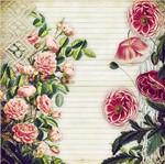 Papel Scrapbook Litocart 30,5x30,5 LSCE-020 Flores