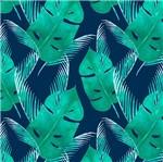 Papel Scrapbook Litocart 30,5x30,5 LSCE-002 Folhas Verde e Azul Escuro