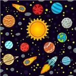 Papel Scrapbook Litocart 30,5x30,5 LSCE-030 Planetas e Meteoros