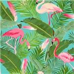 Papel Scrapbook Litocart 30,5x30,5 LSCE-005 Flamingos e Folhas