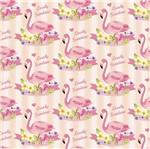 Papel Scrapbook Litocart 30,5x30,5 LSCE-008 Flamingos e Listras