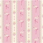 Papel Scrapbook Litocart 30,5x30,5 LSCE-009 Faixas Flamingos