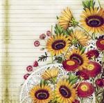 Papel Scrapbook Litocart 30,5x30,5 LSCE-019 Girassol