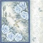 Papel Scrapbook Litocart 30,5x30,5 LSCE-040 Rosas Azul