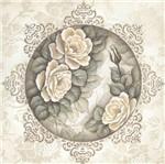 Papel Scrapbook Litocart 30,5x30,5 LSCE-041 Mandala Rosas
