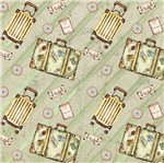 Papel Scrapbook Litocart 30,5x30,5 LSCE-026 Malas Verde