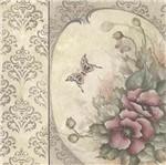 Papel Scrapbook Litocart 30,5x30,5 LSCE-037 Flores e Borboleta