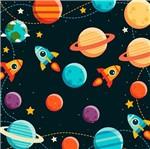 Papel Scrapbook Litocart 30,5x30,5 LSCE-028 Planetas e Foguete