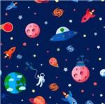 Papel Scrapbook Litocart 30,5x30,5 LSCE-029 Planetas e Espaçonaves