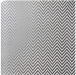 Papel Scrapbook Litocart 30,5x30,5 LSCPL-020 Perolizado Chevron Prata