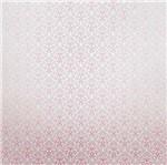 Papel Scrapbook Litocart 30,5x30,5 LSCPL-018 Perolizado Arabesco V Rosa