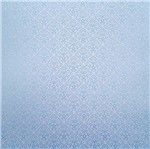 Papel Scrapbook Litocart 30,5x30,5 LSCPL-019 Perolizado Arabesco V Azul